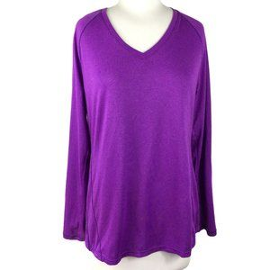 Layer 8 Performance Quick Dry Purple Tee, Large